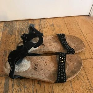 Ugg suede sandals size 7